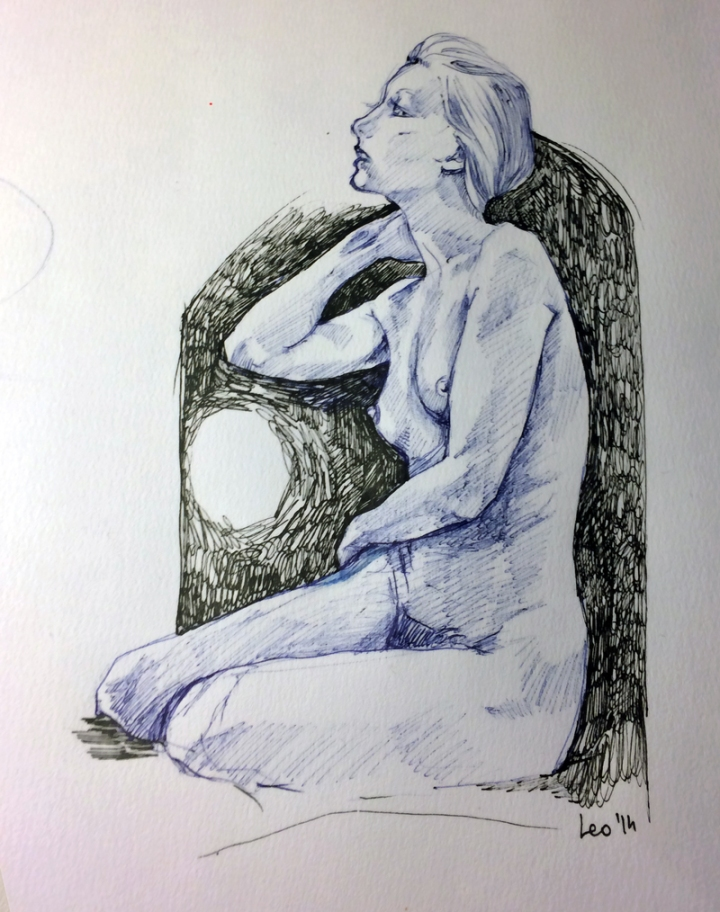 A nocturnal sketch to see how much I got rusty lately. Reference image http://artatart.net/brooke-lynn-i/