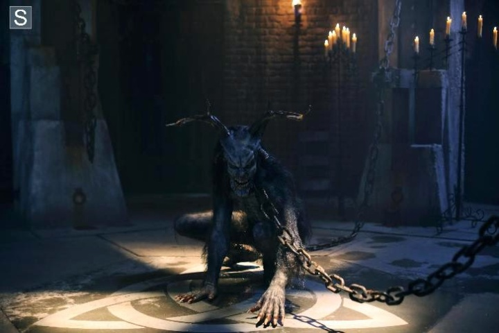 "Sleepy Hollow's Wendigo creature from episode six season 2 ""And the Abyss Gazes Back"""