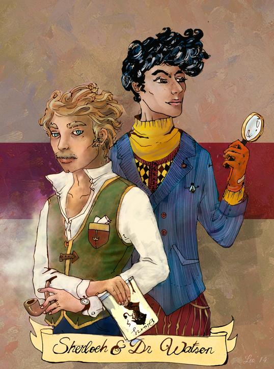 Sherlock and Dr. Watson fanart